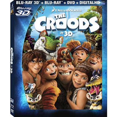 The Croods (Blu-ray 3D + Blu-ray + DVD + Digital Copy + UltraViolet) (Widescreen)