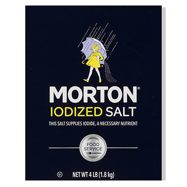 Morton® Iodized Table Salt - 4lb. box