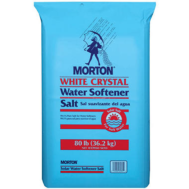 Morton® White Crystal® Solar Salt - 80 lb. bag