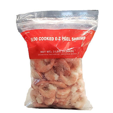 Cooked EZ Peel Shrimp - 3 lbs.