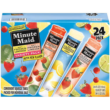 Minute Maid� Soft Frozen Lemonade & Limeade Variety Pack - 24/4 oz.