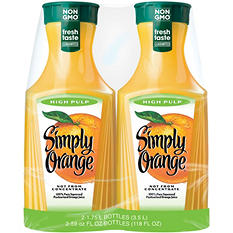 Simply Orange High Pulp Orange Juice - 59 oz. - 2 pk.