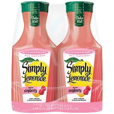 Simply Lemonade with Raspberry (59 fl. oz., 2 pk.)