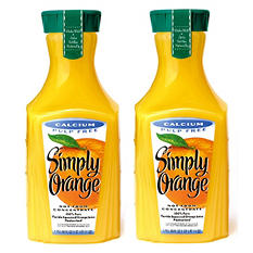 Simply Orange Orange Juice with Calcium - 59 oz. - 2 pk.