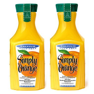 Simply Orange Orange Juice with Calcium - 59 oz. - 2 pk.