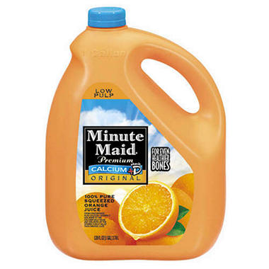 Minute Maid� Original + Calcium Orange Juice - 1 gal.