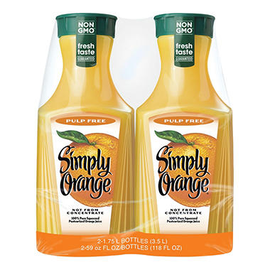 Simply Orange - 2/59 fl. oz.