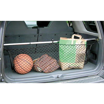 Universal Vehicle Storage Telescoping Cargo Bar with Net
