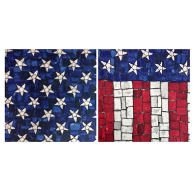 "Mosaic 3-Ply America Print Napkins - 13"" in. - 200 ct."