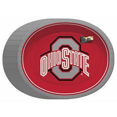 "NCAA Ohio State Buckeyes Paper Platters (10"" x 12"", 50 ct.)"