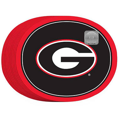 "Georgia Bulldogs Oval Platters - 10"" x 12"" - 50 ct."