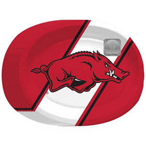 "Arkansas Razorbacks Oval Platters - 10"" x 12"" - 50 ct."