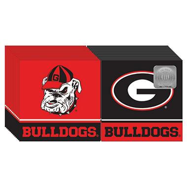 Georgia Bulldogs Napkins - 3 ply - 150 ct.