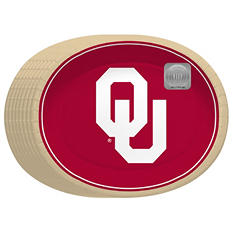 "Oklahoma Sooners Oval Platters - 10"" x 12"" - 50 ct."