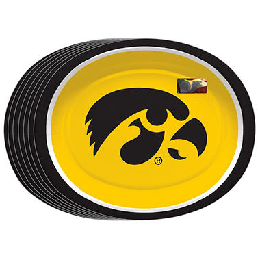 "Iowa Hawkeyes Oval Platters - 10"" x 12"" - 50 ct."