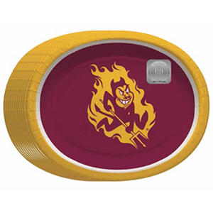 """Arizona State Sun Devils Oval Platters - 10"""" x 12"""" - 50 ct."""