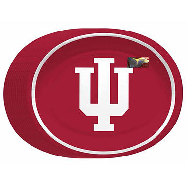 "Indiana Hoosiers Oval Platters - 10"" x 12"" - 50 ct."