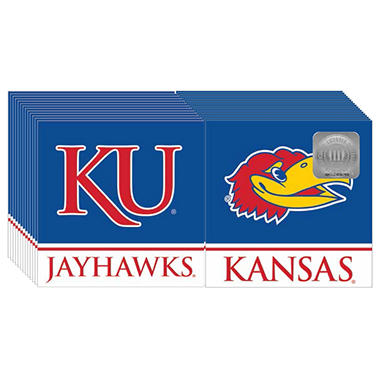 Kansas Jayhawks Napkins - 3 ply - 150 ct.