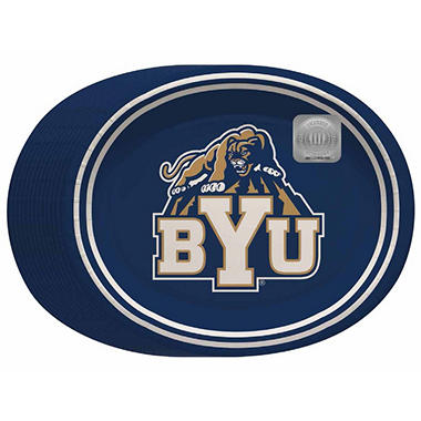 """BYU Cougars Oval Platters - 10"""" x 12"""" - 50 ct."""
