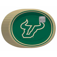 "South Florida Bulls Oval Platters - 10"" x 12"" - 50 ct."
