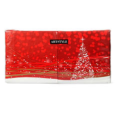 "Artstyle Holiday Glimmer Napkins - 13"" x 13"" - 200 ct."