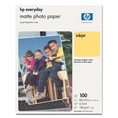 "HP Everyday Matte Photo Paper - 8.5"" x 11"""