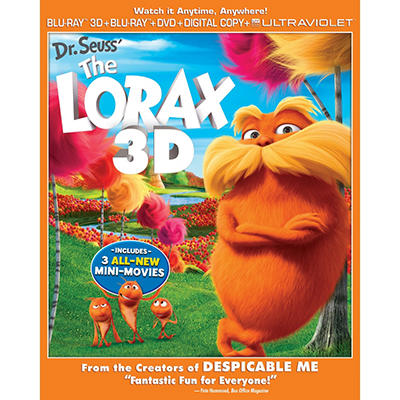 Dr. Seuss' The Lorax (3D Blu-ray + Blu-ray + DVD + Digital Copy + UltraViolet)