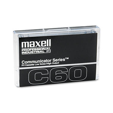 Maxell - Standard Dictation/Audio Cassette, Normal Bias - 60 Min. (30 x 2)