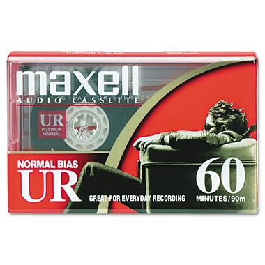 Maxell - Dictation & Audio Cassette, Normal Bias - 60 Minutes (30 x 2)