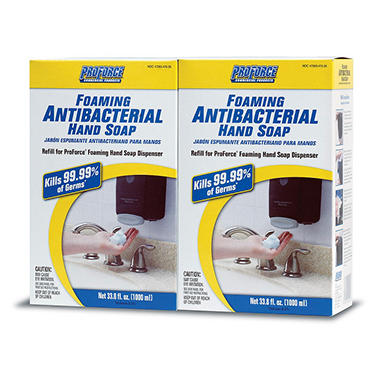 ProForce Foaming Antibacterial Hand Soap - 1000 ML each - 2 pk.