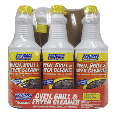ProForce� Oven Grill & Fryer Cleaner - 32 oz. - 3 ct.