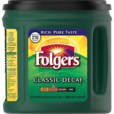 Folgers Decaffeinated Classic Roast Coffee - 33.9 oz.