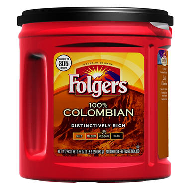 Folgers Colombian Ground Coffee - 35 oz.