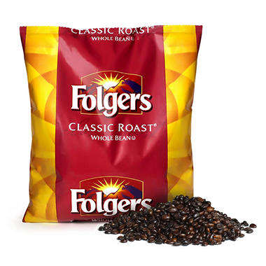 Folgers Classic Roast Coffee Beans - 44 oz.
