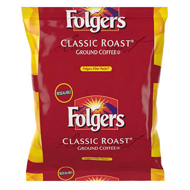 Folgers Classic Roast Ground Coffee, Filter Packs, (0.9 oz., 40 ct.)