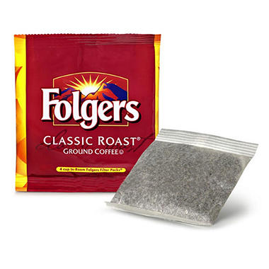 Folgers 4 Cup Hotel Classic Roast Coffee Filter Packs - 200 ct.