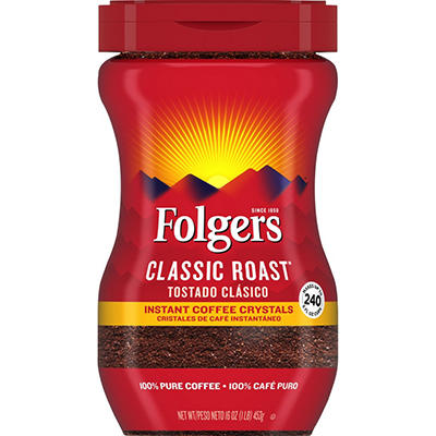 Folgers Classic Roast Instant Coffee Crystals (16 oz.)