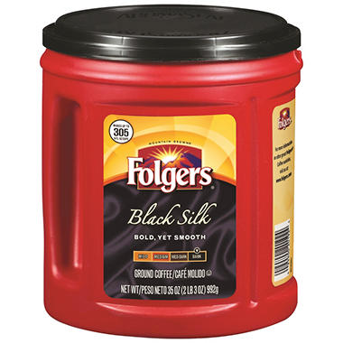 Folgers Black Silk Ground Coffee - 35 oz.