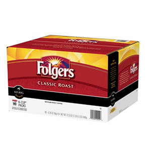 Folgers Classic Roast Coffee, Medium Roast (80 K-Cups)