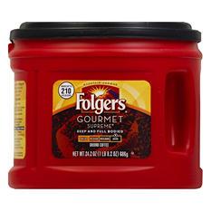 Folgers Gourmet Supreme Dark Roast Ground Coffee (24.2 oz. canister)
