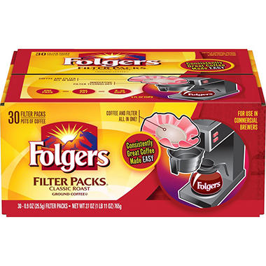 Folgers Classic Roast, Filter Packs (0.9 oz., 30 ct.)