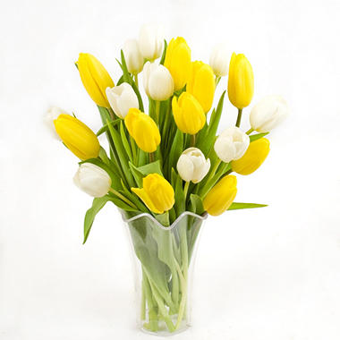 Yellow  amp  White Tulip BouquetYellow Tulip Bouquet