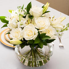 Centerpiece - White - 6 pc.