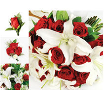 Wedding Collection - Red & White - 10 pc.