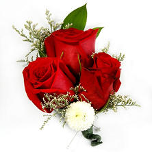 Wedding Corsage & Boutonniere package - Red & White - 24 pc.