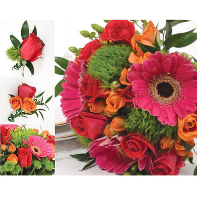 Wedding Collection - Hot Pink, Green, & Orange - 33 pc.