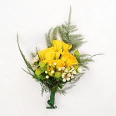 Wedding Corsage/Boutonniere Package - Yellow - 24 pc.
