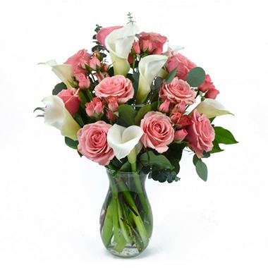 Pink Rose & Calla Lily Bouquet