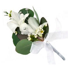 Platinum Wedding Corsage & Boutonniere Package - Now and Forever - 24 pc.