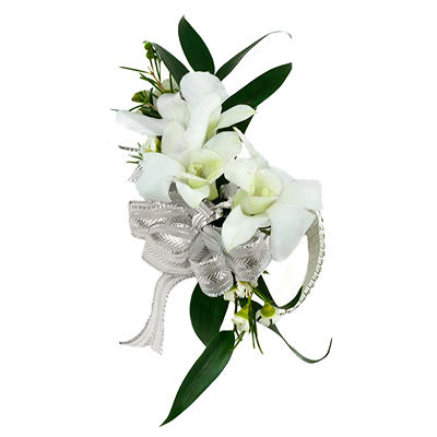Platinum Wedding Corsage & Boutonniere Package - Endless Love - 24 pc.